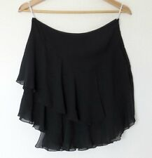 BNWT Black Chiffon Mini Skirt asymmetrical hem by BLESSED ARE THE MEEK size 8