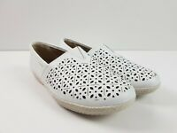 Planet Shoes White Leather Support Comfort Flat Casual Loafer Shoe Women's US 7