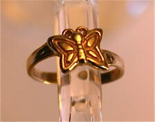 New 9ct Gold Toe Ring with Butterfly