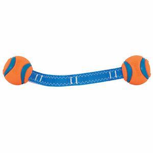 Brand New Chuckit!-Ultra Ball Duo Tug Toys Durable Dog Play Pull Fetch Throw