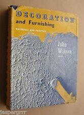 1960. DECORATING & FURNISHING. JOHN WILSON. PERIOD VINTAGE STYLE. DESIGN. ART.