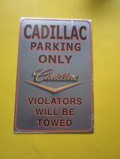 tin aluminum decor gas oil dealer garage repair shop advertising cadillac m704