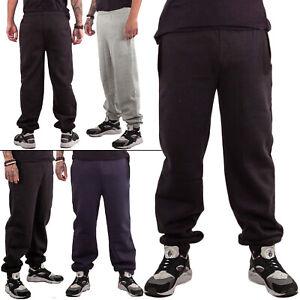 Mens Trouser Jogging Bottoms Fleece Tracksuit Joggers Loose Fit Gym Activewear