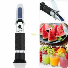 Hand Held Brix Refractometer With Atc 0 32 Fruit Juice Sugar Tester Meter Tool