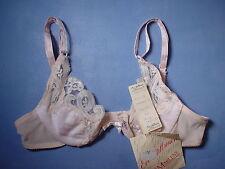 Vintage Lady Marlene 1533 Lace Trim Underwire Bra Size 32A in Pink