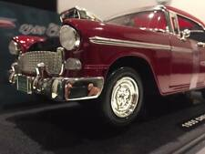 NEW 1:18 1955 Custom Chevy Bel Air Coupe with Blown Engine (Red) DIE CAST MODEL