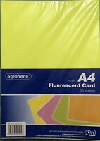 West Design Stephens A4 Fluorescent Card 50 Sheets 270GSM RS241751 RRP £32.50