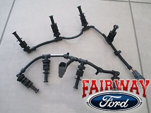 08 thru 10 Super Duty F-250 F-350 OEM Ford Glow Plug Wire Harness Set 6.4L PAIR