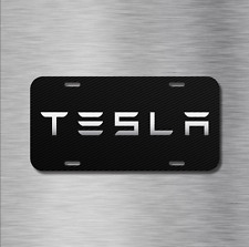 Tesla Vehicle Front License Plate Auto Car Model 3 Model X S Electric CARBON