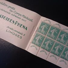 CARNET N°188-C2 TIMBRE LABORATOIRES PHENA N°188 NEUF ** LUXE MNH