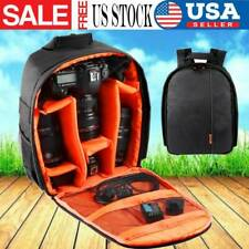 Shoulders Waterproof Nylon Backpack Case for Canon Nikon DSLR Digital Camera Bag