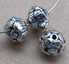 20pc Retro Tibetan Silver Lotus Flower Spacer Beads Jewelry Findings B0137PF