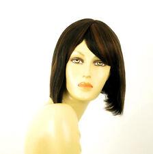 perruque femme 100% cheveux naturel carré méchée noir/cuivré CAMILLE 1b30