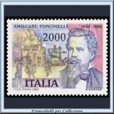 1986 Italia Repubblica L. 2000 Ponchielli n. 1753 **
