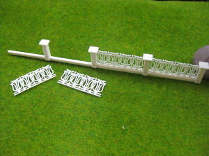 LG20006 1 Meter Model Railway Building Fence Wall 1:200 N Z Scale