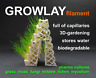 GROWLAY 0.25 kg / 2 versions / white & brown / experimental / 3D Filament