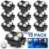 10x ICE Balls Maker Round Sphere Tray Mold Cube Whiskey Ball Cocktails Silicone