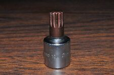 "10MM 12 Points Stuby Short Allen Socket 3/8 Drive 1-1/2"" Overall Length Vim"