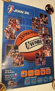 WNBA 1998 Season poster RARE! Michele Timms Lynette Woodard Wendy Palmer Mystics