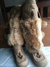 women shoes all man made materials Fur long Boots.