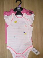 Pink Baby Girl Body Suits Vest Mothercare 1 3 6 9 12 18 Months