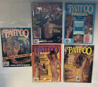 Vintage Easyriders Tattoo Magazine Lot of 5 1990 Very Rare!