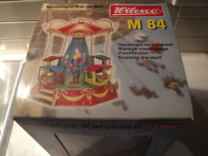 Wilesco Steam Accessory tin plate carousel with 4 carriages