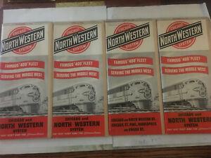 C&NW Chicago & Northwestern RR Public Timetables 1952-53
