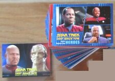 Star Trek Deep Space Nine Heroes & Villains Complete Base Set and DS9 Promo P1