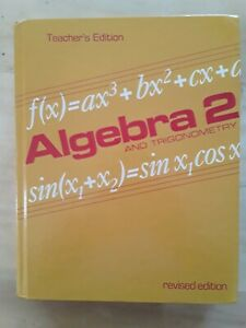 ALGEBRA 2 AND TRIGONOMETRY, TEACHER'S EDITION By Dolciani - Hardcover