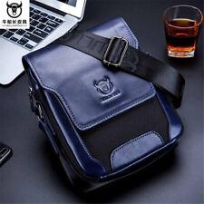 Bullcaptain Men Genuine Leather Business Shoulder Bag Briefcase Messenger