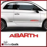 2 Stück Set Fiat Abarth Sticker Style Punto Skorpion 500 Dekor Aufkleber #226