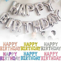 Happy Birthday Balloons Set Inflating Birthday Banner Bunting Party Decorations