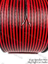600' feet OFC TRUE 16 Gauge AWG RED/BK Oxygen Free Speaker Wire Car Home Audio
