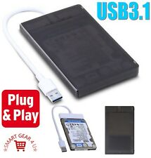 "USB3.1 2.5"" External SATA HDD Hard Disk Drive Cable Case USB 3.0 Enclosure USB3"