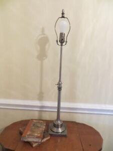 Restoration Hardware Brushed Nickel Adjustable Dimmable Table Lamp