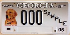 Rare Georgia Spay And Neuter license plate sample Pet Dog Cat Animal Lover Adopt