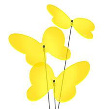 SUNPLAY Sonnenfänger Ø10cm 3er-Set Suncatcher Gartenstecker Schmetterlinge GELB