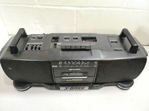 Sharp WQ-T360E Stereo Radio Cassette Recorder Vintage Boombox Ghetto Blaster