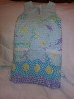 Lilly Pulitzer Ocean Tile Little Girls Sleeveless  Dress Sz 5 Adorable