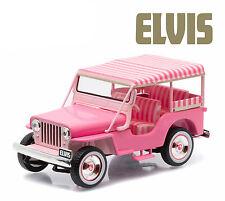 "GREENLIGHT 1960 JEEP SURREY CJ3B ""PINK JEEP"" ELVIS PRESLEY 1/43 DIECAST  86472"