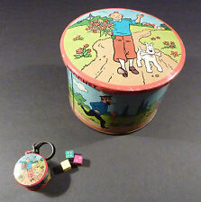 Tintin boite à bonbon de marque Brochet avec mini boite porte-clé TBE