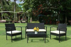 Muebles Set Conjunto Jardín Patio Terraza mesa con sillas Ratán Brisa