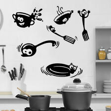 Kitchen Fork Funny Cutlery Wall Stickers Art Dining Room Removable Decals DIY