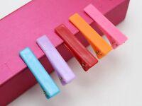 50 Mixed Bubblegum Color Plastic Pinch Alligator Hair Clips Teeth Bows 41mm