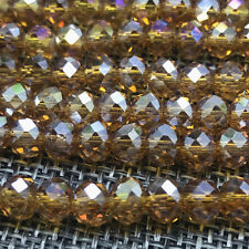 DIY 6mm 50pcs Crystal Flat Beads Spacer Loose Beads Jewelry Making wholesale#18