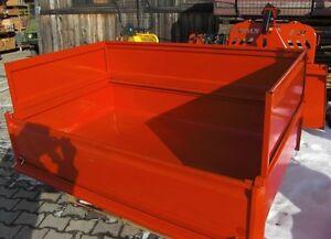 Kippmulde, Transportmulde, Heckmulde, Heckschaufel, Heckcontainer - 220 x 120 cm