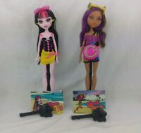 Mattel Monster High Gloom Beach Draculaura & Clawdeen Wolf Set! RARE!
