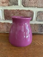 "Edible Arrangements Flower Pot Planter 5"" Tall Purple Plum Vase Daisy Excellent"