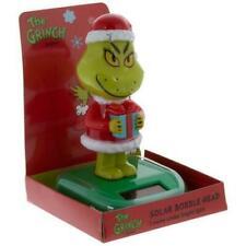 * Grinch Solar Powered Bobble Head * Dr Seuss New!